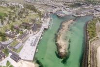Drone footage reveals what Hayle harbour redevelopment could look like
